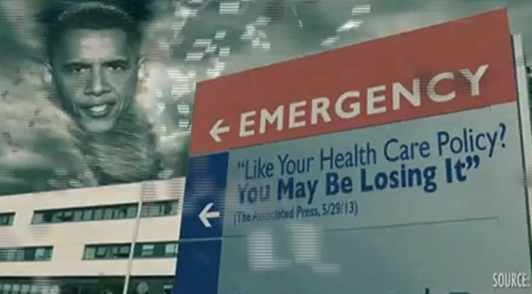 "The ""ObamaCareNado"" video from Crossroads GPS takes jabs at the Affordable Care Act."