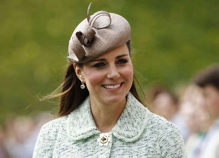 (Fies) In this file picture taken on April 21, 2013 Britain's Catherine, Duchess of Cambridge, attends the National Review of Queen's Scouts at Windsor Castle in Berkshire. (Photo by Olivia Harrisolivia/ AFP/Pool /Getty Images