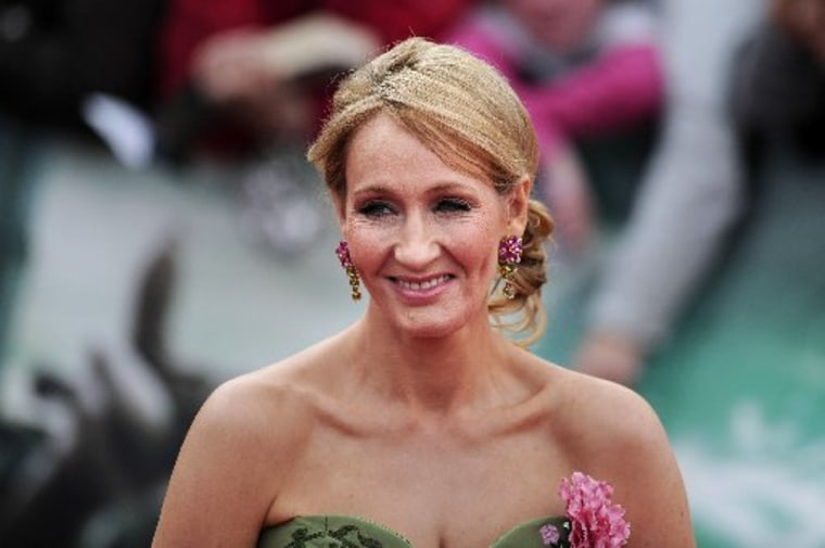 File photo: A picture dated July 7, 2011 shows Harry Potter author J K Rowling attending the world premiere of Harry Potter and the Deathly Hallows. (Photo by: Carl Court/AFP/Getty Images).