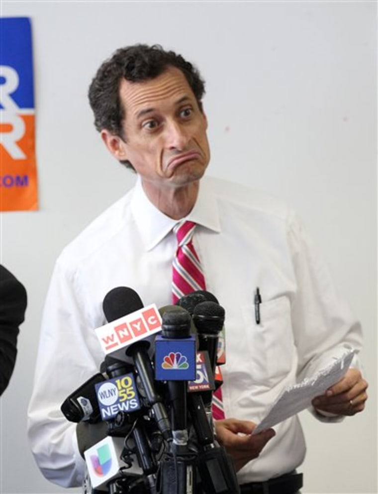 Anthony Weiner can, quite literally, afford to stay in the race for mayor of New York City. (Photo by Donald Traill/AP)