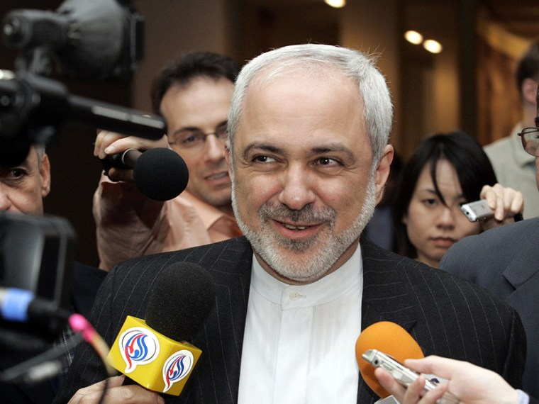 Javad Zarif, Iranian Ambassador to the United Nations speaks to reporters after Security Council consultations regarding Iraq, Iran and other matters at U.N. Headquarters in New York  Wednesday, March  21,  2007  (Photo by David Karp/AP)