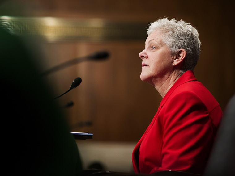 Gina McCarthy prepares to testify before a Senate Environment and Public Works Committee on her nomination as EPA administrator, on Capitol Hill in Washington April 11, 2013. (Photo by Joshua Roberts/Reuters)