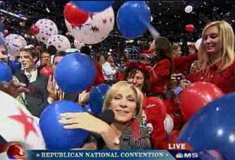 Andrea Mitchell reports from the floor of the Republican National Convention following the conclusion of Sen. John McCain's speech, September 4, 2008.