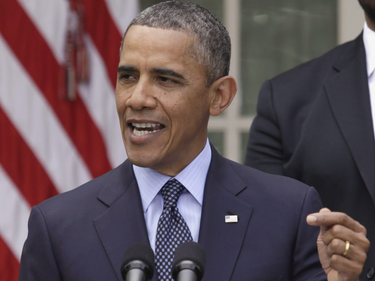 U.S. President Barack Obama delivers a statement on commonsense measures to reduce gun violence in the Rose Garden of the White House in Washington, April 17, 2013. Joined by relatives of the victims of gun violence, Obama on Wednesday angrily blamed...