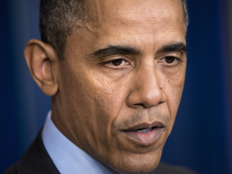 US President Barack Obama makes a statement in the briefing room of the White House April 19, 2013 in Washington, DC, after law enforcement officials captured the second suspect believed to be responsible for the Boston Marathon bombings. (Photo by...