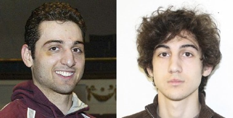 Tamerlan Tsarnaev (L), 26, is pictured in 2010 in Lowell, Massachusetts, and his brother Dzhokhar Tsarnaev, 19, is pictured in an undated FBI handout photo in this combination photo. The two are suspects in the April 15, 2013 bombing at the Boston...