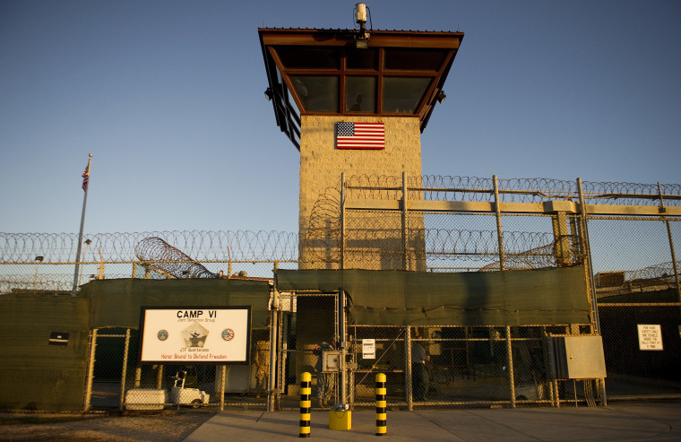 "File Photo: This January 19, 2012  file photo reviewed by the US military shows the front gate of ""Camp Six"" detention facility of the Joint Detention Group at the US Naval Station in Guantanamo Bay, Cuba. (Photo by Jim WATSON/AFP/Getty)"