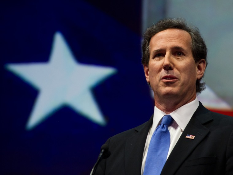 Former Republican presidential hopeful  Rick Santorum of Pennsylvania addresses the NRA annual Convention on May 3, 2013 in Houston, Texas. (Photo by Karen Bleier/AFP/Getty Images)