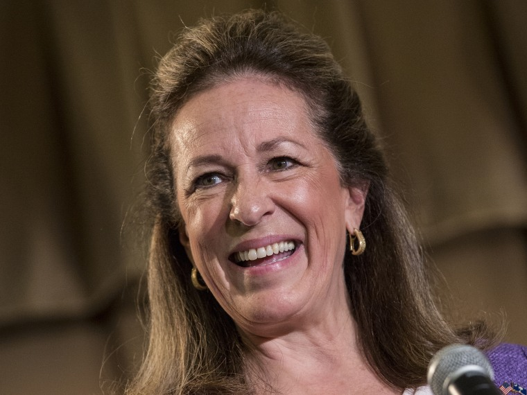 U.S. House of Representatives Democratic candidate for the state of South Carolina Elizabeth Colbert Busch, during a debate against Republican candidate for the open Congressional seat of South Carolina, Former South Carolina Governor Mark Sanford, at...
