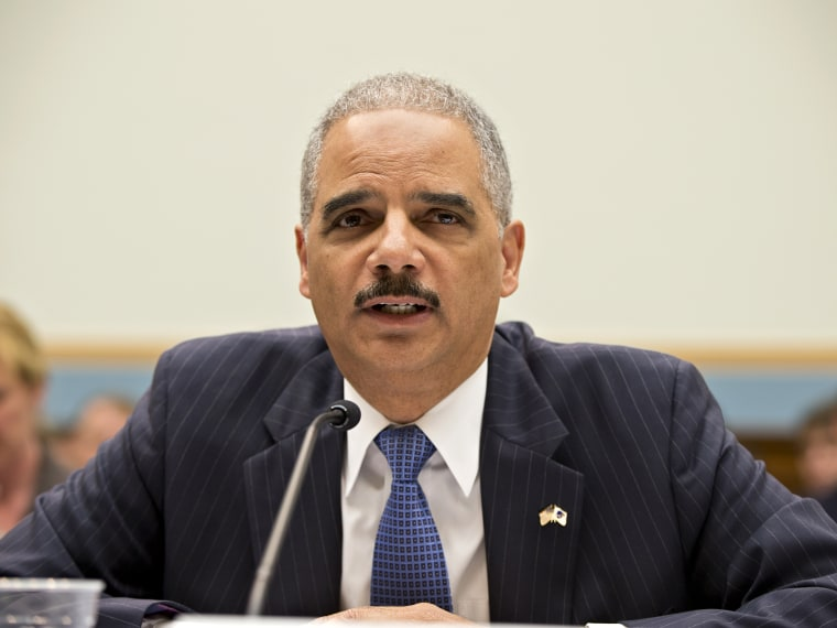 Attorney General Eric Holder, the nation's top law enforcement official, testifies on Capitol Hill in Washington, Wednesday, May 15, 2013, before the House Judiciary Committee oversight hearing on the Justice Department. (Photo by J. Scott Applewhite...