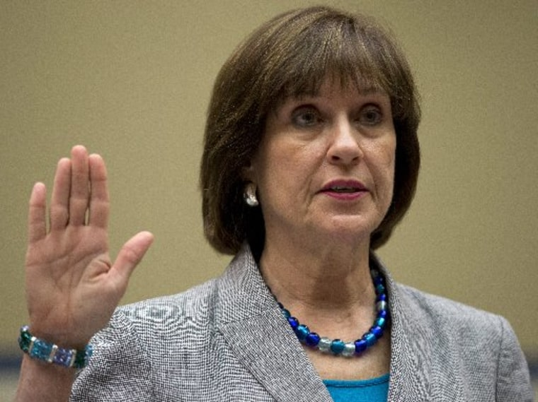 IRS official Lois Lerner is sworn in May 22, 2013, before the House Oversight Committee hearing to investigate the extra scrutiny IRS gave to Tea Party and other conservative groups that applied for tax-exempt status. Lerner told the committee she did...