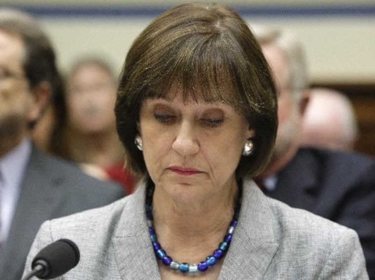 Lois Lerner of the IRS appears before a House Oversight and Government Reform Committee hearing on the targeting of political groups seeking tax-exempt status, May 22, 2013. (Photo by Jonathan Ernst/Reuters)