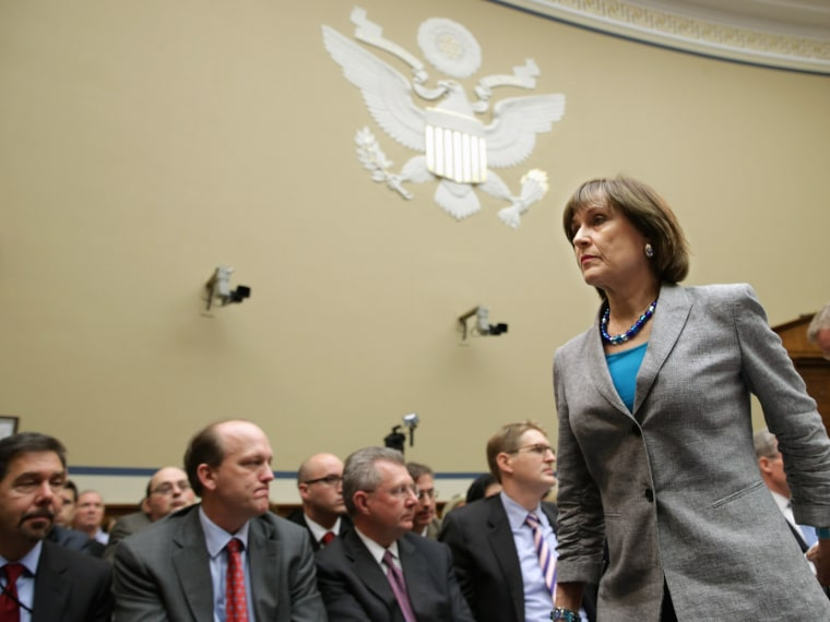 Internal Revenue Service Director of Exempt Organizations Lois Lerner leaves a hearing of the House Oversight and Government Reform Committee after refusing to testify May 22, 2013 in Washington, DC. The committee is investigating allegations that the...