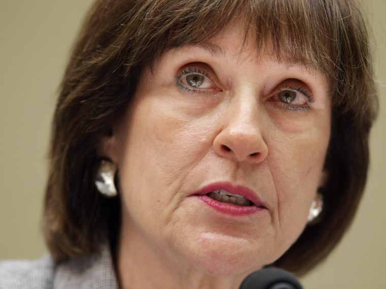 Internal Revenue Service Director of Exempt Organizations Lois Lerner makes a statement during a hearing of the House Oversight and Government Reform Committee before refusing to testify to the committee May 22, 2013 in Washington, DC. (Photo by Chip...