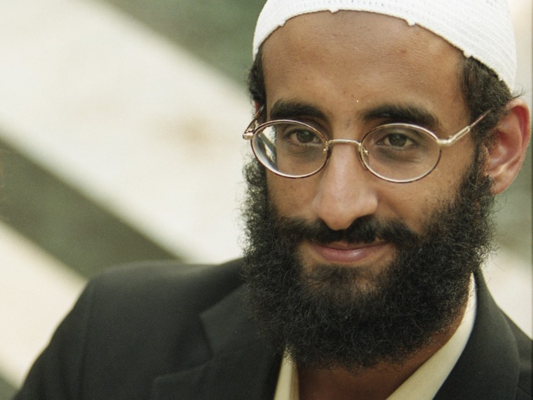 File Photo: Anwar Al-Awlaki at Dar al Hijrah Mosque on October 4 2001 in Falls Church, VA. (Photo by Tracy Woodward/The Washington Post via Getty Images, File).