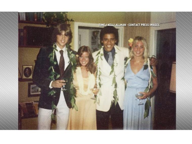 President Obama on prom night in 1979. Time magazine published this photo courtesy of Kelli Allman (Video still courtesy Jansing & Co.)