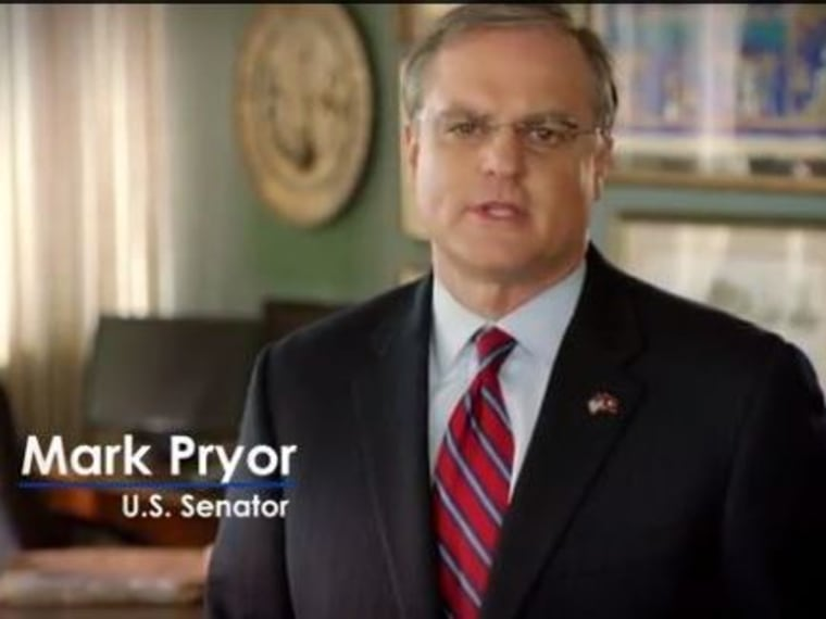Sen. Mark Pryor appears in a re-election ad.