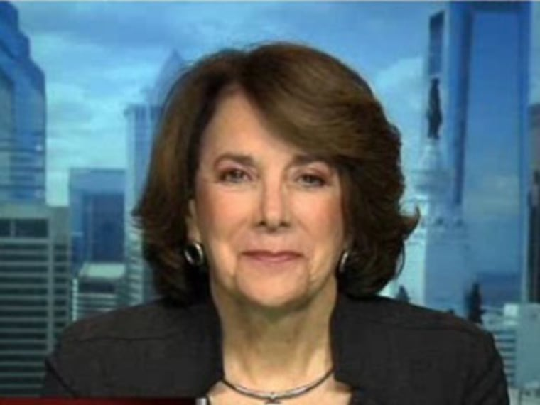 Former Congresswoman Marjorie Margolies on Hardball on Thursday night.