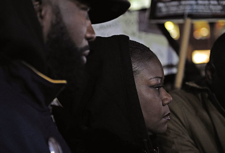 Tracy Martin and Sybrina Fulton, the parents of Trayvon Martin, attend a vigil to mark the one-year anniversary of the fatal shooting of teenager Trayvon Martin by neighboorhood watchman George Zimmerman in New York, February 26, 2013. (Photo by...