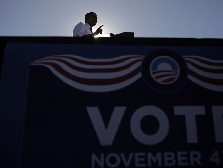 Democratic presidential candidate Sen. Barack Obama, D-Ill., speaks at a rally in Las Vegas, Oct. 25, 2008. (Photo by Jae C. Hong/AP)