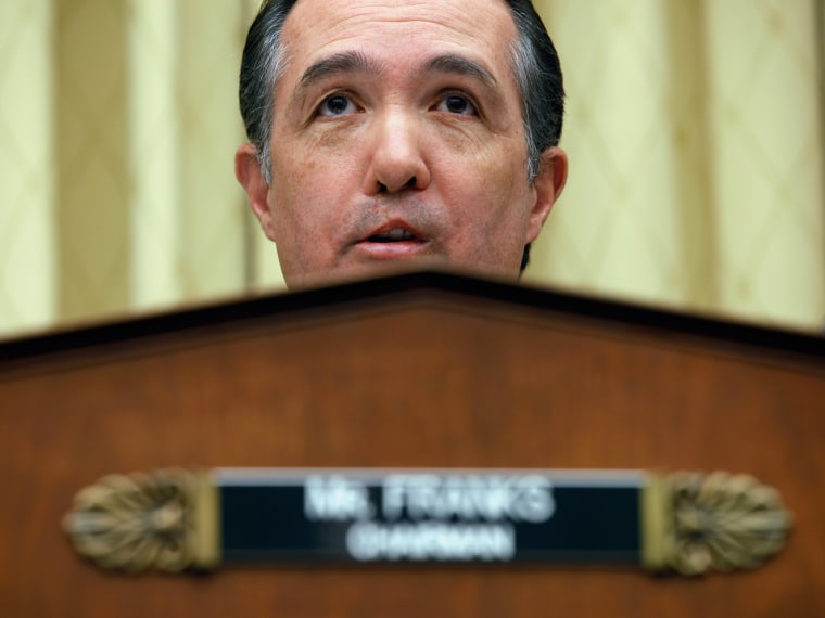 "File Photo: House Judiciary Committee's Subcommittee on the Constitution Chairman Trent Franks (R-AZ) holds a hearing about H.R.3, the ""No Taxpayer Funding for Abortion Act"" in the Rayburn House Office Building on Capitol Hill February 8, 2011 in..."