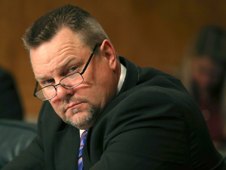 U.S. Sen. John Tester (D-MT), listens to testimony during a Senate Homeland Security hearing on Capitol Hill, April 10, 2013 in Washington, DC. The committee is hearing testimony on border security as some are calling for an overhaul of immigration...