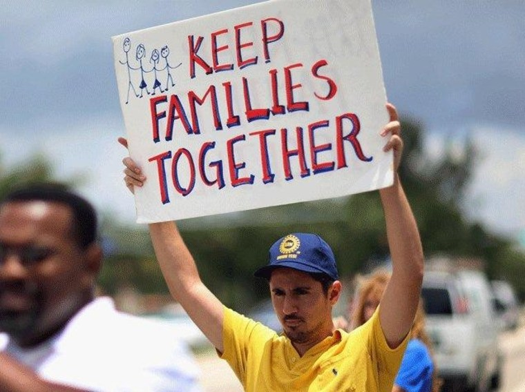 Supporting immigration reform (Photo/Getty Images)