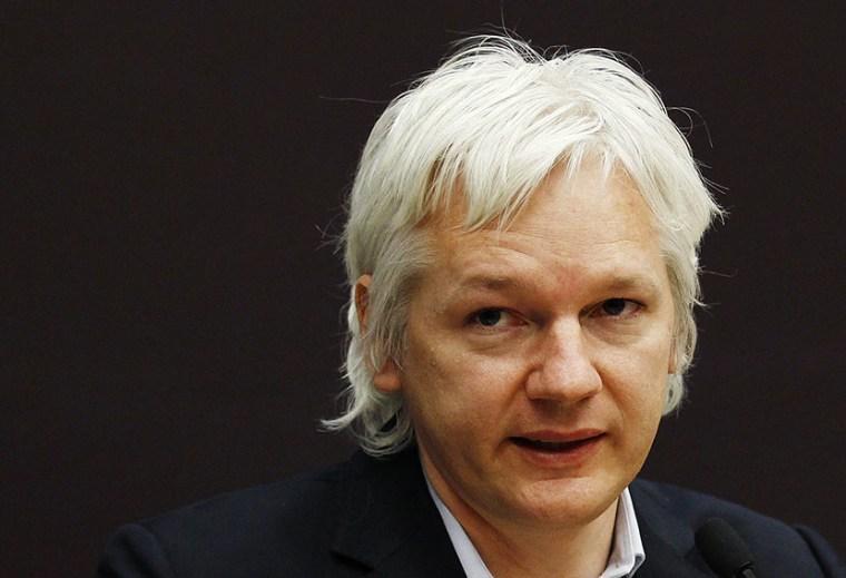 Founder of whistleblowing website Wikileaks Julian Assange. (Photo by Luke MacGregor/Reuters)