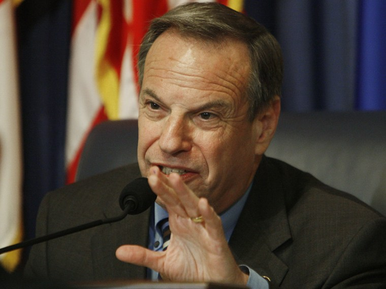 Committee chairman Rep. Bob Filner, D-Calif., questions Veterans Affairs Secretary James Peake, not pictured, at the House Committee on Veterans' Affairs hearing regarding veterans' suicides on Capitol Hill in Washington, Tuesday, May 6, 2008. (AP...