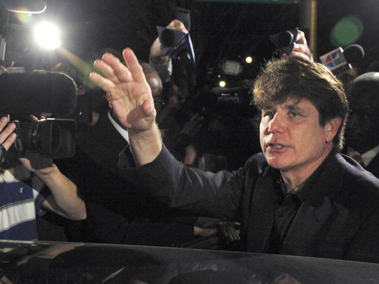 Former Illinois Gov. Rod Blagojevich departs his Chicago home on March 15, 2012 for Littleton, Colo., to begin his 14-year prison sentence on corruption charges. (Photo by Charles Rex Arbogast)
