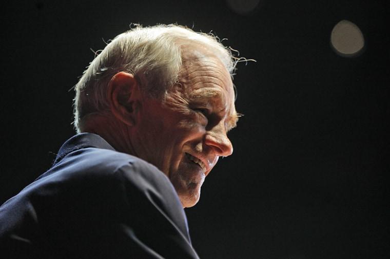 Former US Representative Ron Paul (R-TX). (AP Photo/Charles Dharapak)