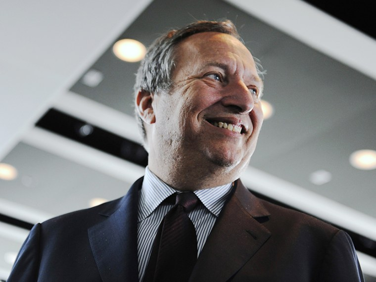 Lawrence Summers, then director of the White House's National Economic Council, departs after an interview at the Newseum in Washington, October 2, 2009.  (Photo by Jonathan Ernst/Reuters)