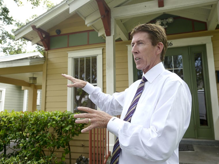 George Zimmerman attorney Mark O'Mara answers questions from reporters outside his offices in Orlando, Fla., Wednesday, July 24, 2013. (Photo by Phelan M. Ebenhack/AP)