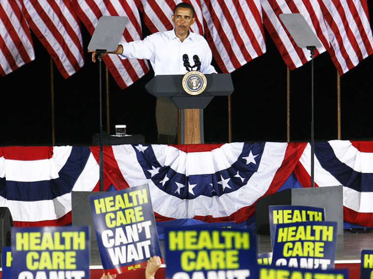 President Barack Obama speaks at the AFL-CIO Labor Day picnic at Coney Island in Cincinnati Sept. 7, 2009. Some labor unions that initially backed Obama's health care overhaul are now frustrated and angry about what they say are unexpected consequences...