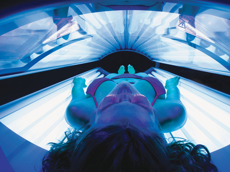 A tanning bed in Indianapolis, Indiana. (PRNewsFoto/ETS Tan LLC/AP)
