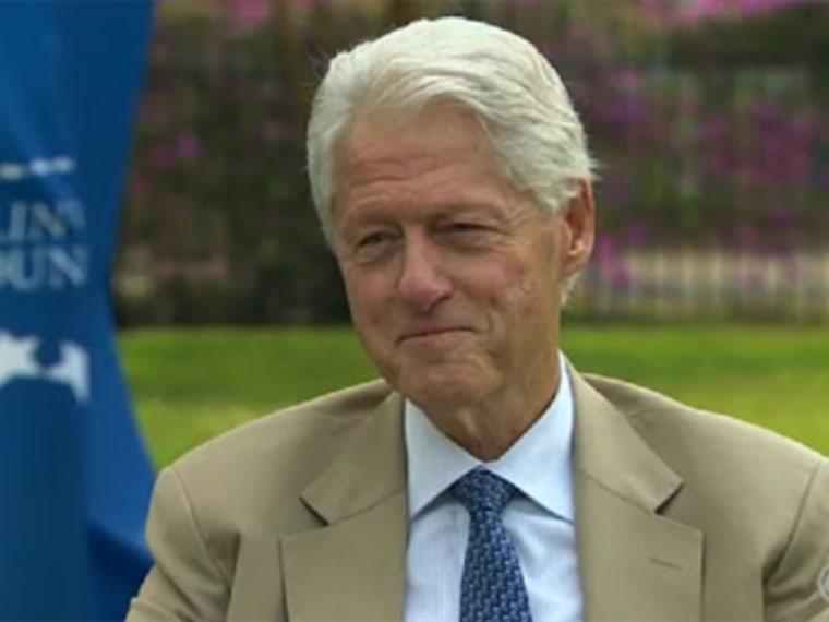 Former President Bill Clinton via CNN.