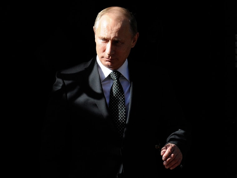 Russian President, Vladimir Putin, leaves Number 10 Downing Street after a meeting with British Prime Minister, David Cameron (not pictured) in London, Britain, on June 16, 2013. (Photo by Facundo Arrizabalaga/EPA)