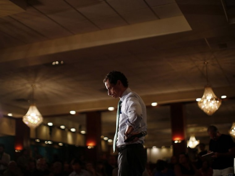 New York mayoral candidate Anthony Weiner attends a campaign event in the Rockaways section in the Queens borough of New York July 31, 2013. (Photo by Eric Thayer/Reuters)