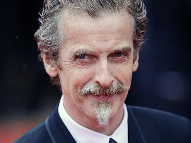 "Glasgow-born actor and Oscar winner Peter Capaldi in London, May 12, 2013.  Peter Capaldi has been named as the next lead star for the long-running British science fiction TV series ""Doctor Who."" (Photo by Dominic Lipinski/AP)"