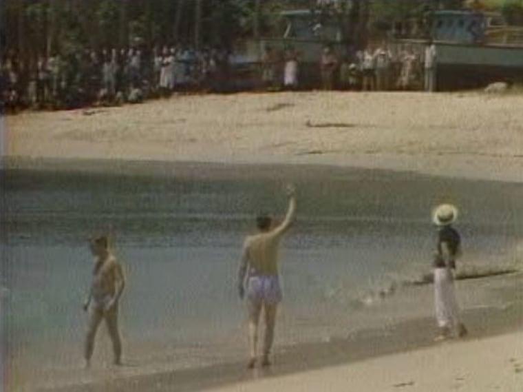 Ronald Reagan during his 1982 trip to Barbados. (NBC News)