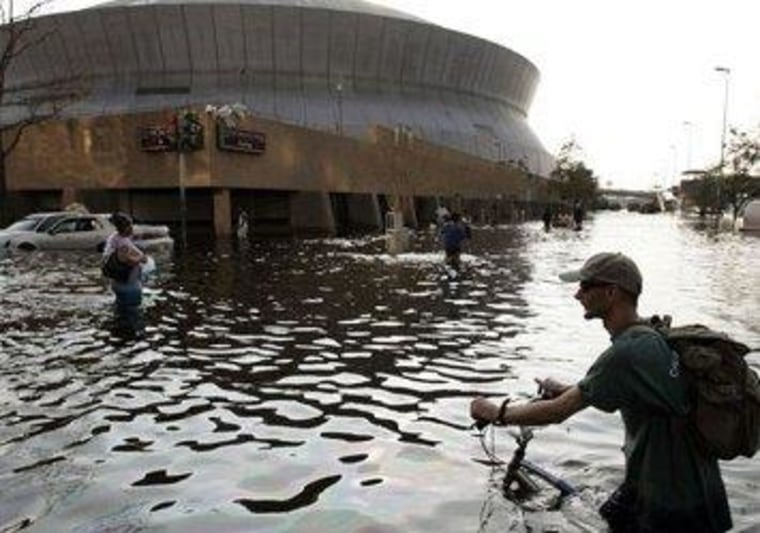 Forgetting the relevant Katrina detail, eight years later