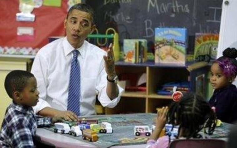 President Obama visits a Head Start center in 2011
