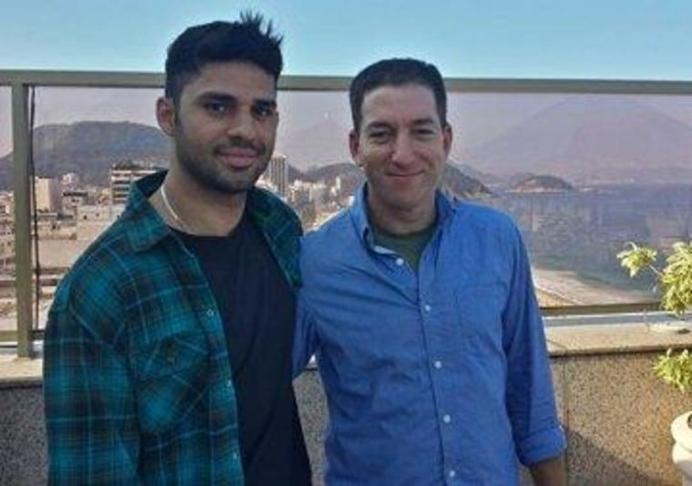 Glenn Greenwald, right, with his partner David Miranda