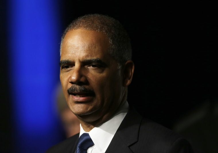 United States Attorney Gen. Eric Holder speaks to the American Bar Association Annual meeting Monday, Aug. 12, 2013, in San Francisco. In remarks to the association, Holder said the Obama administration is calling for major changes to the nation's...