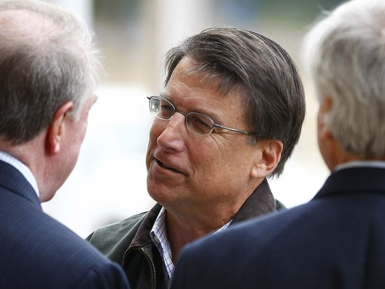 North Carolina Governor Pat McCrory in Charlotte, North Carolina November 6, 2012. (Photo by Chris Keane/Reuters)