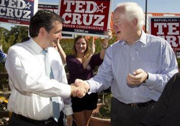 Cruz won't endorse fellow Texan Cornyn