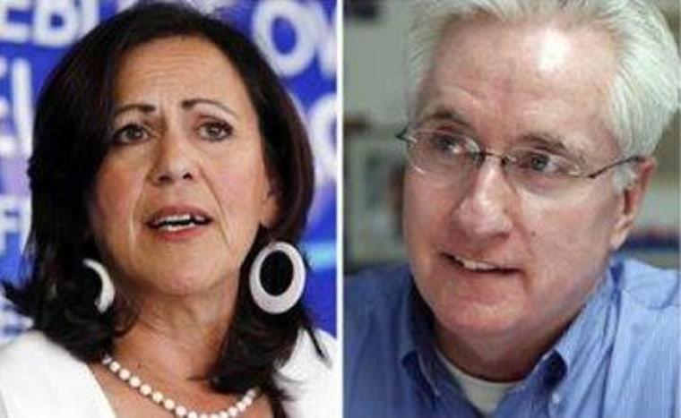 Colorado state Sens. Angela Giron and John Morse