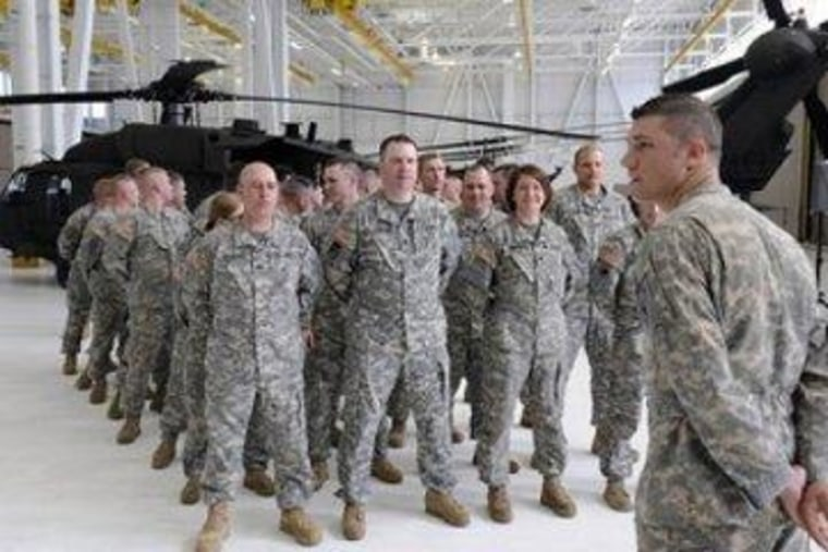 National Guard troops prepare for deployment