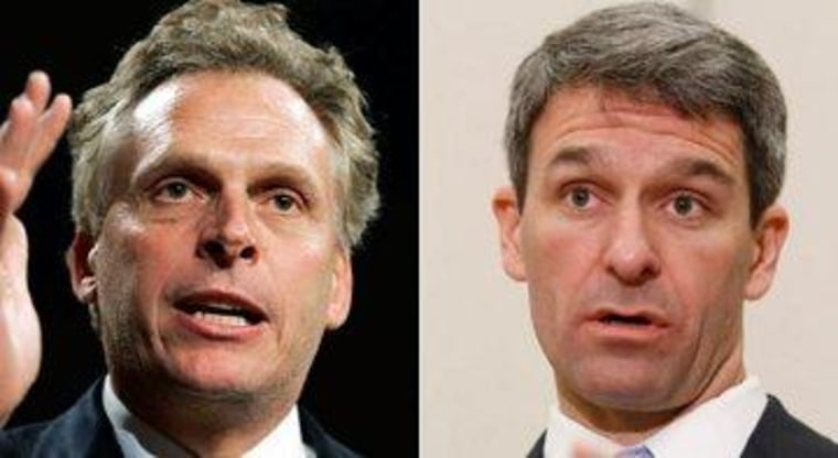 Virginia gubernatorial candidates Terry McAuliffe (D) and Ken Cuccinelli (R)