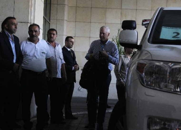 Image: Ake Sellstrom the head of a U.N. chemical weapons investigation team arrives in Damascus